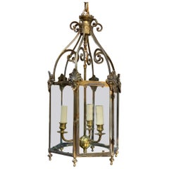 French Gilt Brass Lantern