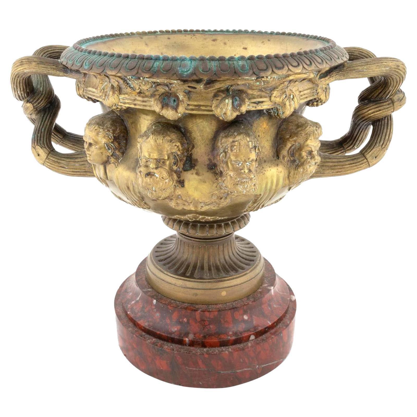French Gilt Bronze Warwick Vase