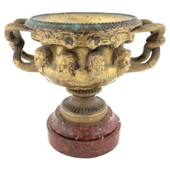 French Gilt Bronze Warwick Vase