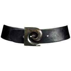 A French iconic Pierre Cardin Leather Belt Circa 1970/1980