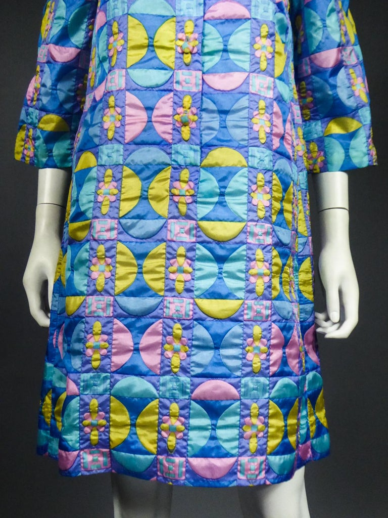 A French Jacques Dessange Pop Art Printed Dress Circa 1970 For Sale 6