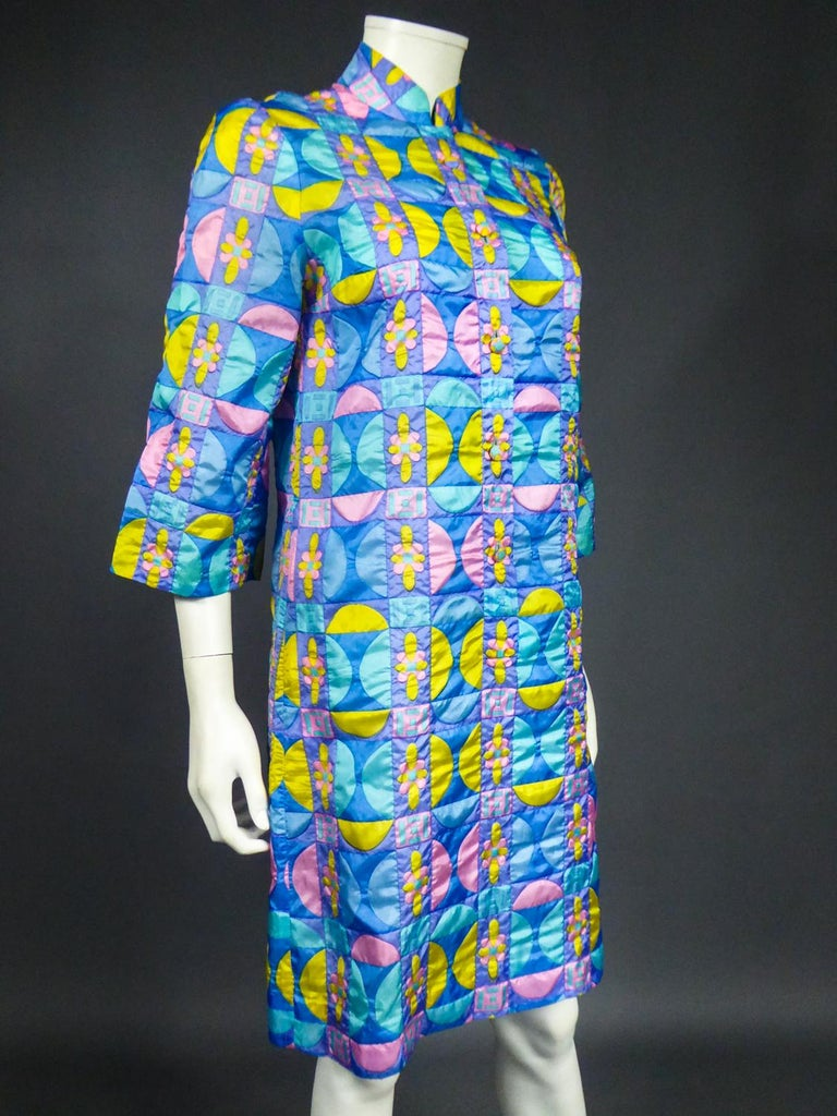 A French Jacques Dessange Pop Art Printed Dress Circa 1970 For Sale 8