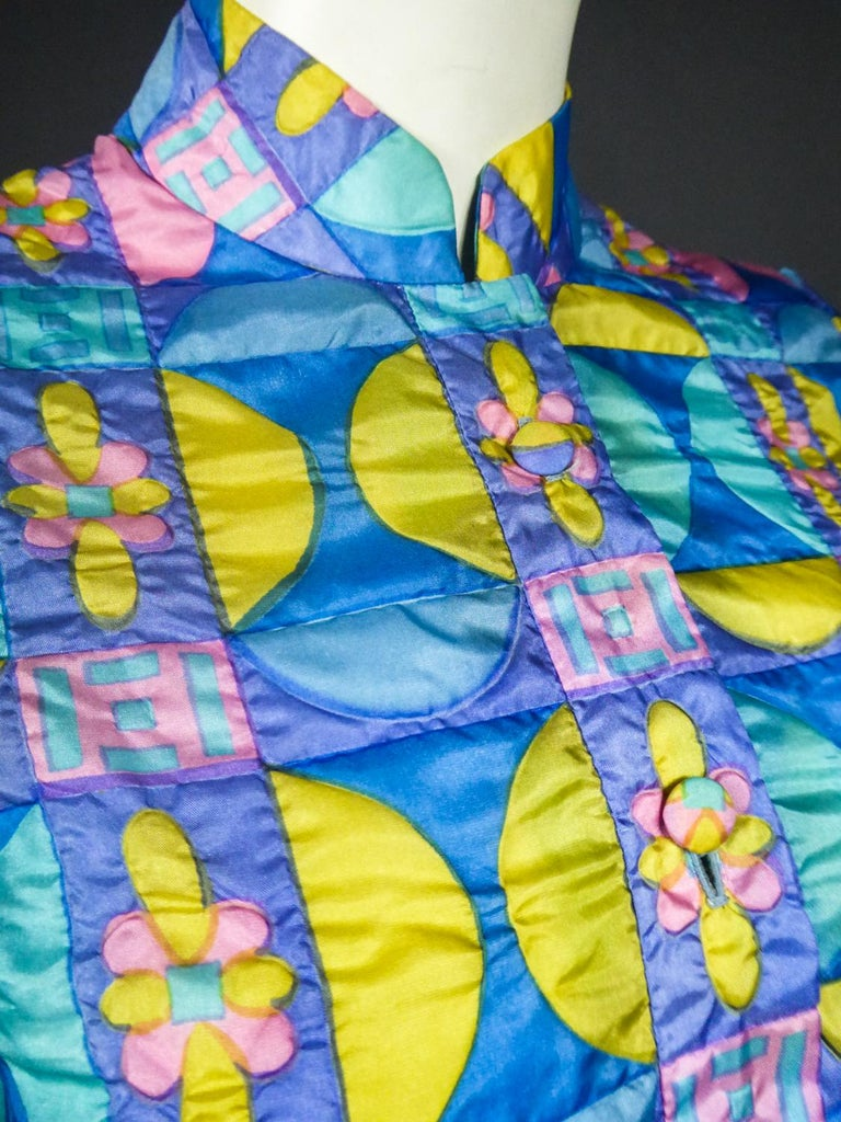 A French Jacques Dessange Pop Art Printed Dress Circa 1970 For Sale 10