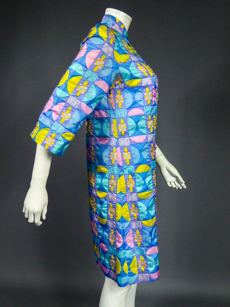 A French Jacques Dessange Pop Art Printed Dress Circa 1970 For Sale 11