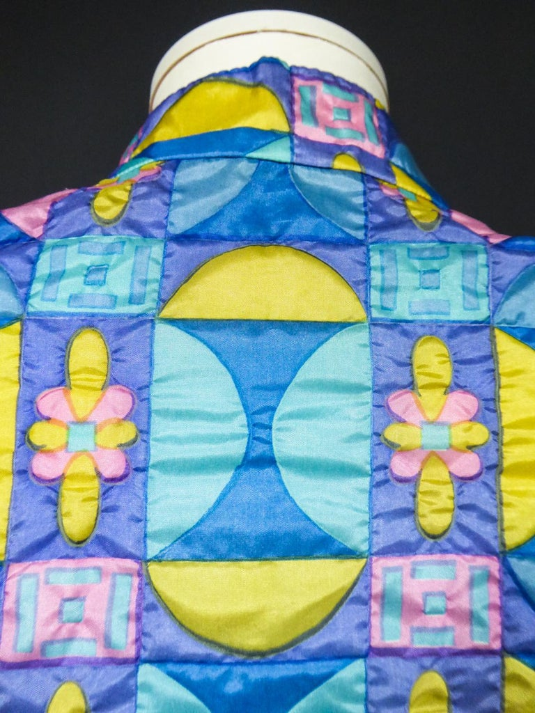 A French Jacques Dessange Pop Art Printed Dress Circa 1970 For Sale 12