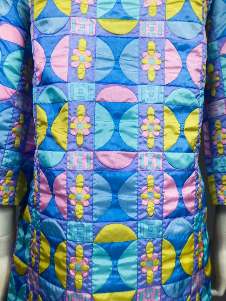 A French Jacques Dessange Pop Art Printed Dress Circa 1970 For Sale 13