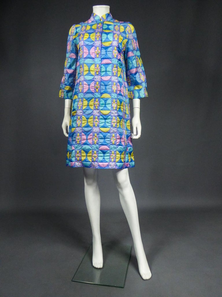 A French Jacques Dessange Pop Art Printed Dress Circa 1970 For Sale 2