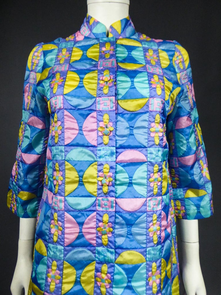 A French Jacques Dessange Pop Art Printed Dress Circa 1970 For Sale 3