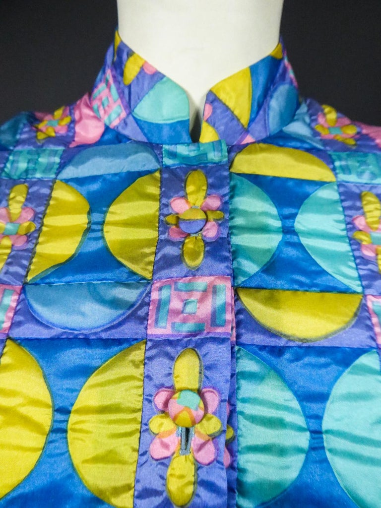 A French Jacques Dessange Pop Art Printed Dress Circa 1970 For Sale 4