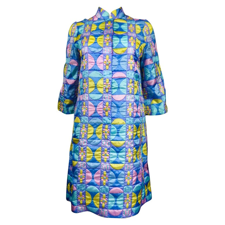 A French Jacques Dessange Pop Art Printed Dress Circa 1970 For Sale
