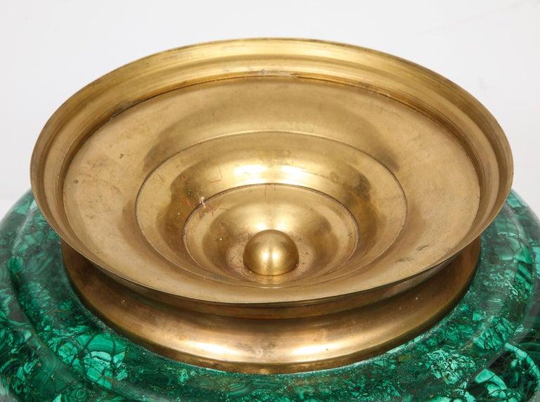 French Japonisme Phoenix Bronze and Malachite Centerpiece by G. Viot, E. Cornu For Sale 9