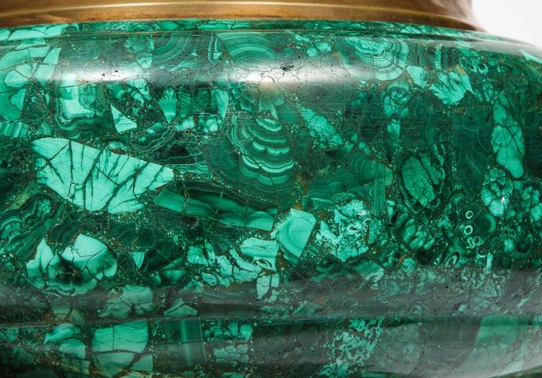 French Japonisme Phoenix Bronze and Malachite Centerpiece by G. Viot, E. Cornu For Sale 2