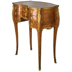 French Kingwood and Mahogany-Veneered Ormolu-Mounted Dressing Table