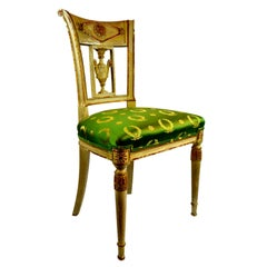 French Late 18th Century Painted Directoire Chair