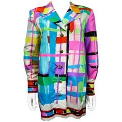 A French Leonard Couture Printed Silk Jacket Circa 1980/1990