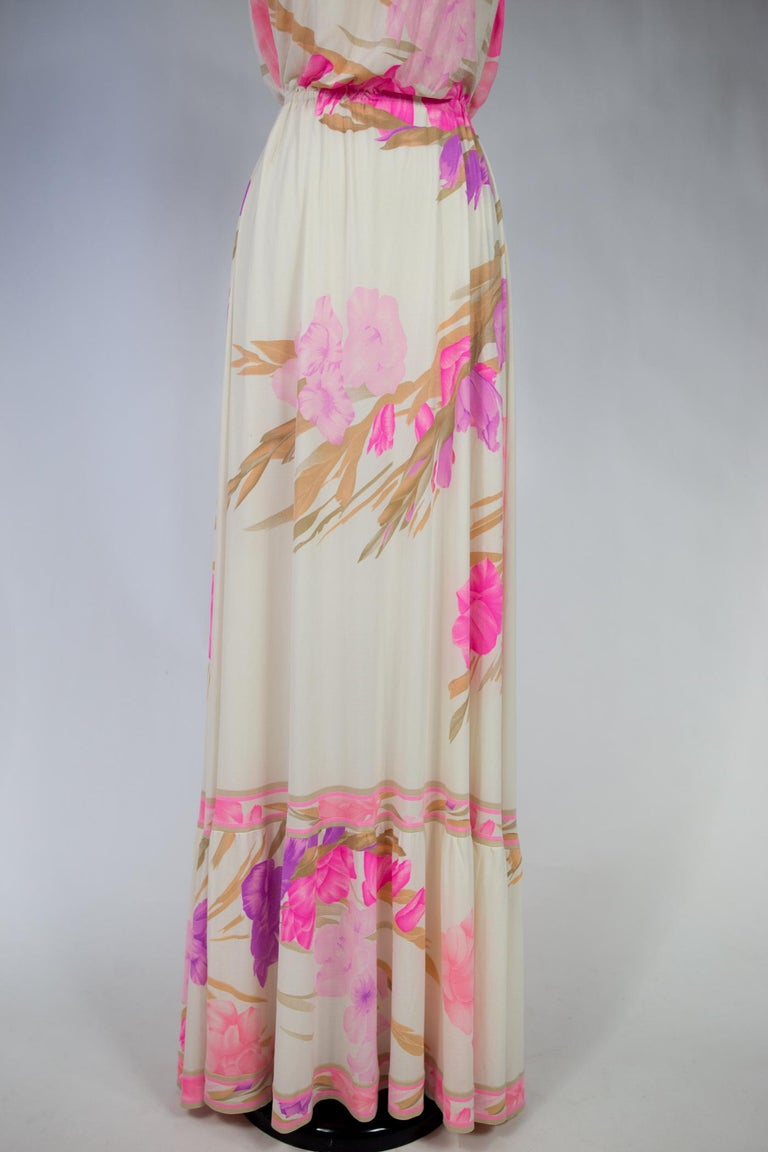 A French Leonard Summer Dress in Printed Silk Jersey Circa 2000 For Sale 5