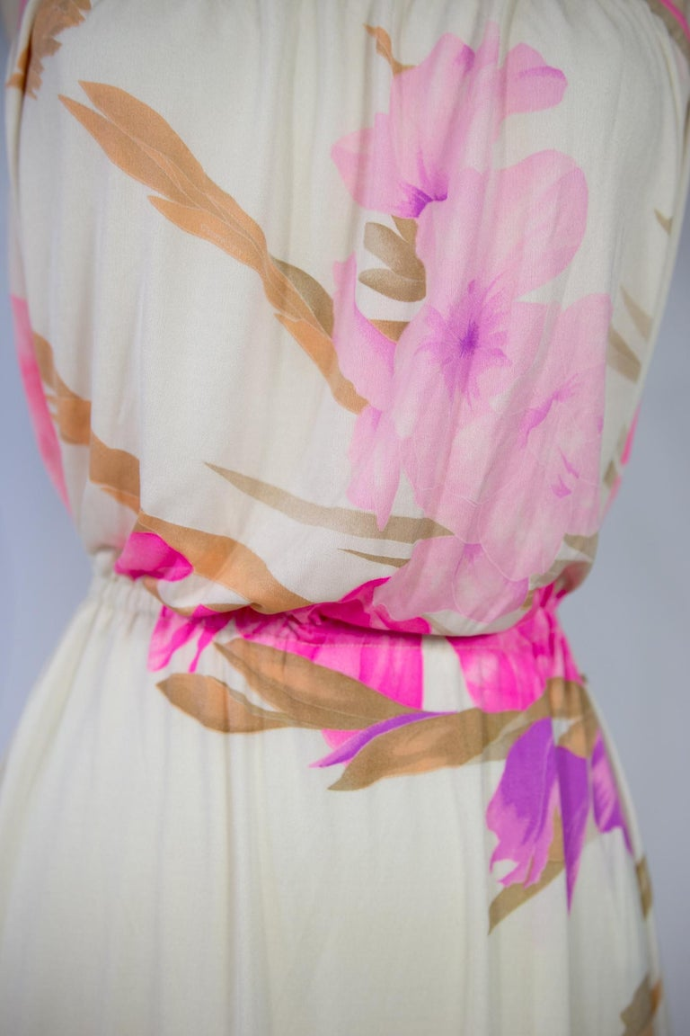 A French Leonard Summer Dress in Printed Silk Jersey Circa 2000 For Sale 7
