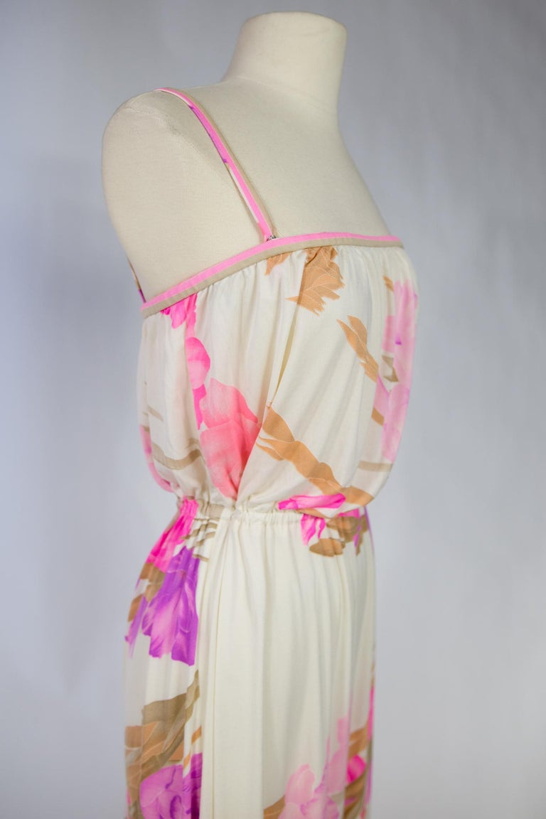 A French Leonard Summer Dress in Printed Silk Jersey Circa 2000 For Sale 11