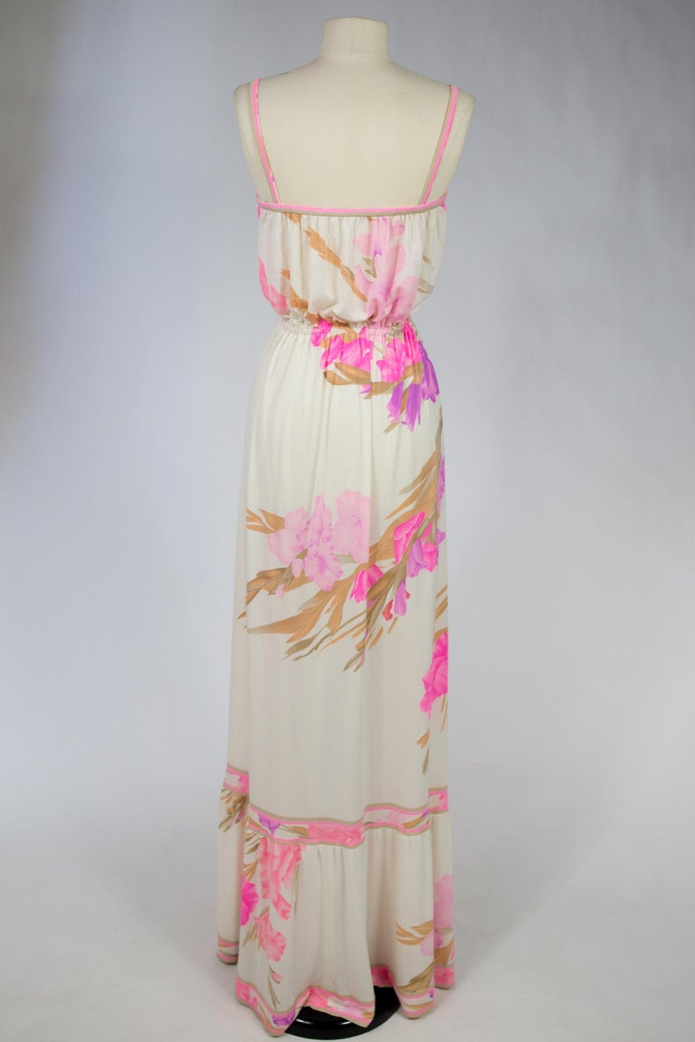 A French Leonard Summer Dress in Printed Silk Jersey Circa 2000 For Sale 2
