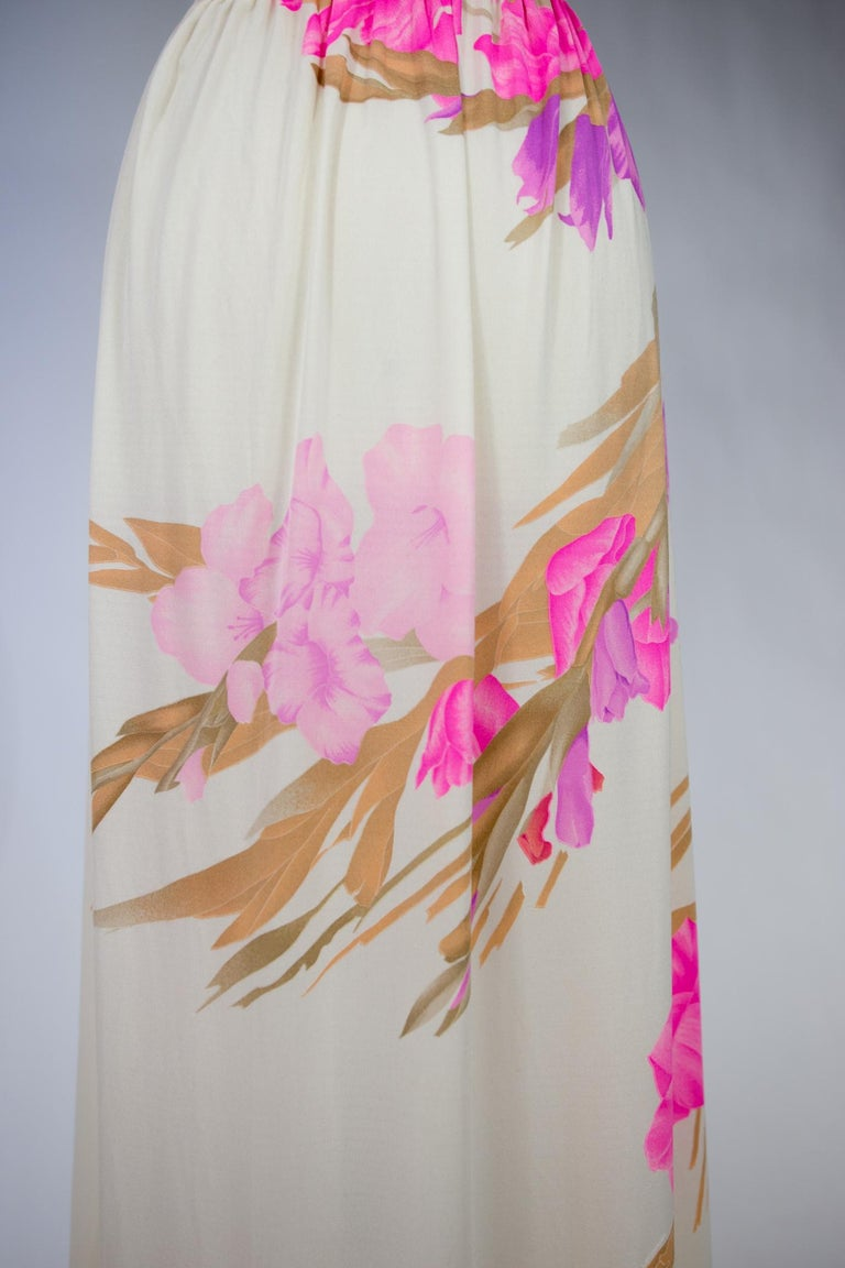 A French Leonard Summer Dress in Printed Silk Jersey Circa 2000 For Sale 4