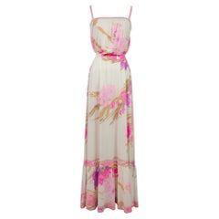 A French Leonard Summer Dress in Printed Silk Jersey Circa 2000