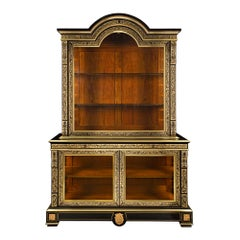 French Louis XIV Style, circa 1840 Boulle Cabinet Vitrine