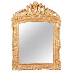 French Louis XIV Style Giltwood Mirror