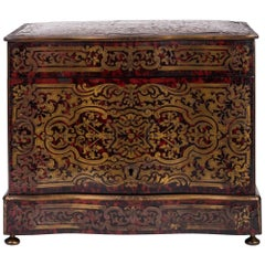 French Louis XIV Style Tortoiseshell Marquetry Liquor Casket