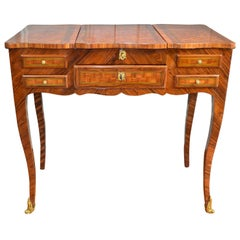 French Louis XV Style Marquetry Ladies Dressing Table 'Coiffeuse'