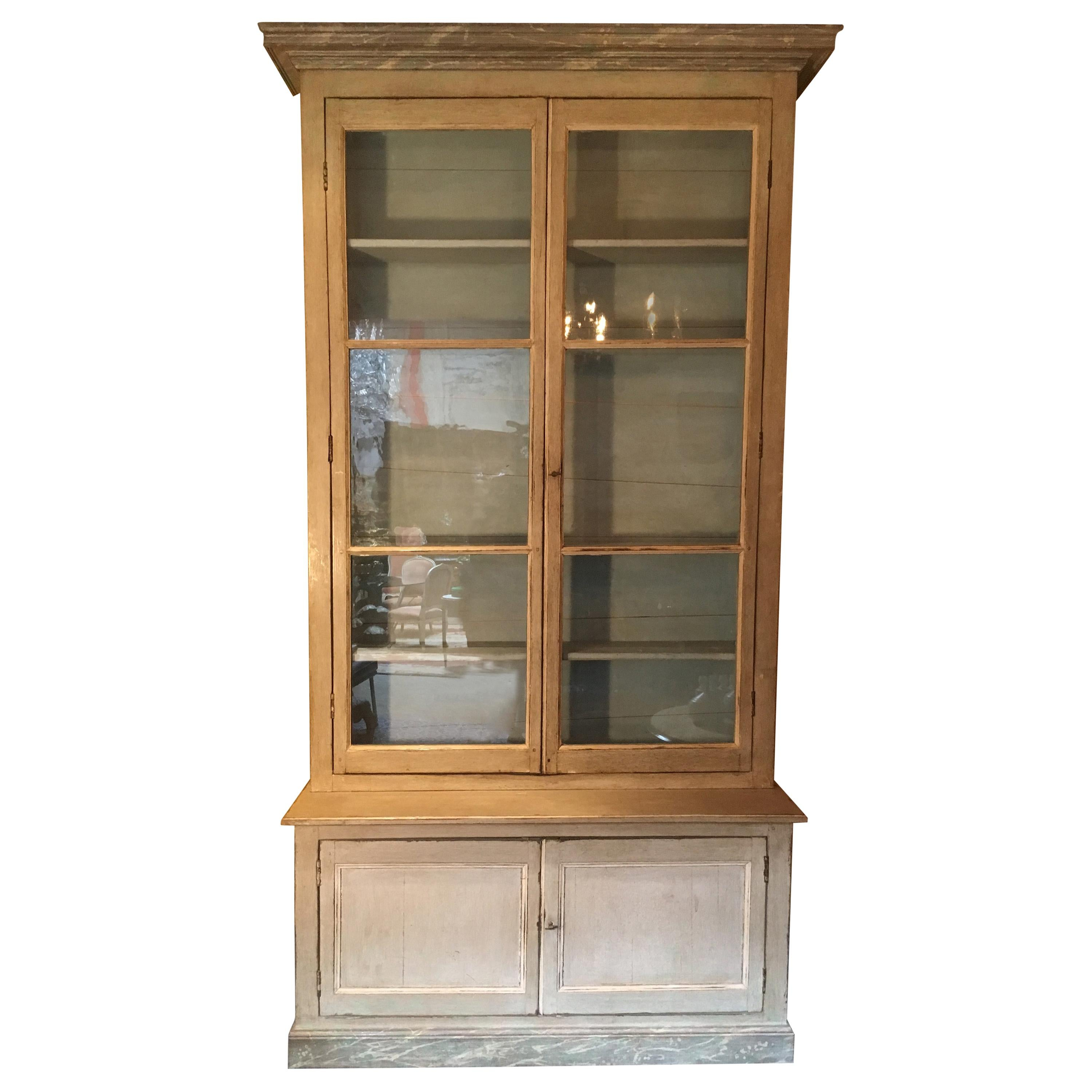 French Louis XVI Style Bookcase with a Painted Finish
