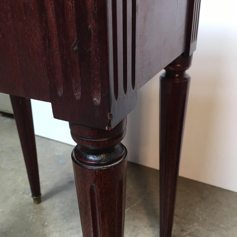 French Louis XVI Style Mahogany Table For Sale 7