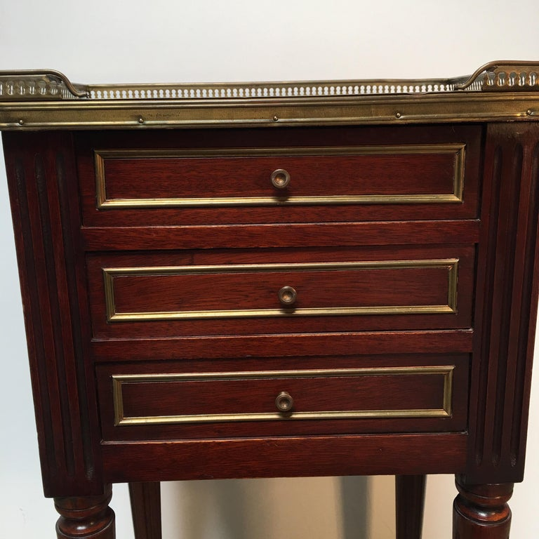 French Louis XVI Style Mahogany Table For Sale 4