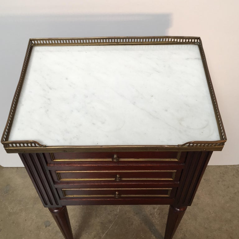 French Louis XVI Style Mahogany Table For Sale 2