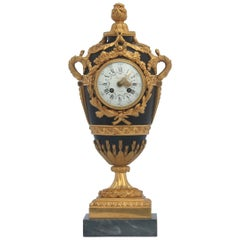 French Louis XVI Style Mantel Clock by Eugène Hazart, À Paris