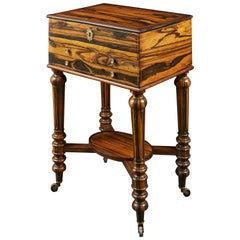 A French Mid 19th Century Coromandel Wood Bedside Table