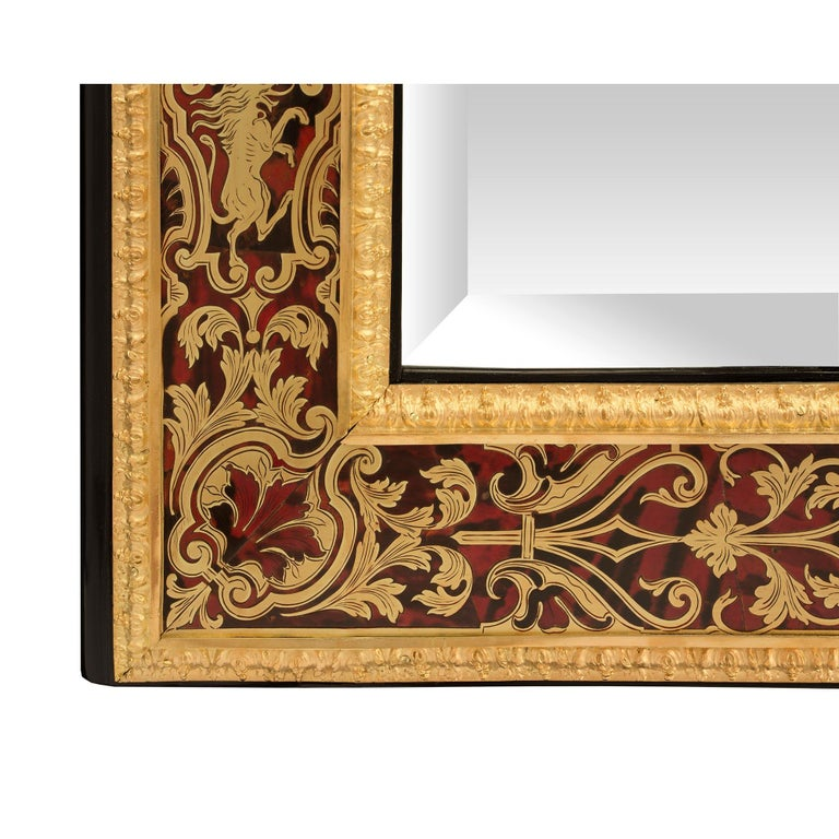 French Mid-19th Century Louis XIV Style Boulle Mirror For Sale 2