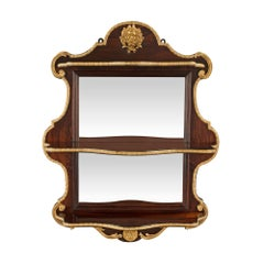 French Mid-19th Century Louis XV Style Rosewood and Ormolu Mirrored Étagere