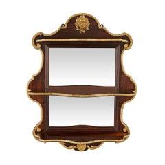Französische Rosenholz und Goldbronze gespiegelte Étagere im Louis XV Stil, Mitte 19. Jahrhundert
