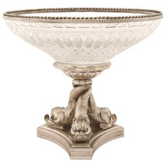 French Mid-19th Century Louis XVI Style Baccarat Crystal Centrepiece