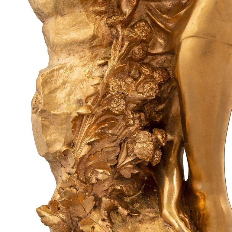 French Mid-19th Century Louis XVI Style Ormolu Statue, Signed Mathieu Moreau For Sale 4