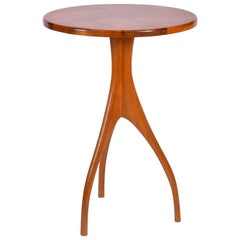 French Midcentury Mahogany Tripod Side Table