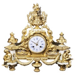 French Ormolu Mantel Clock France, Mid to Late 19th Century