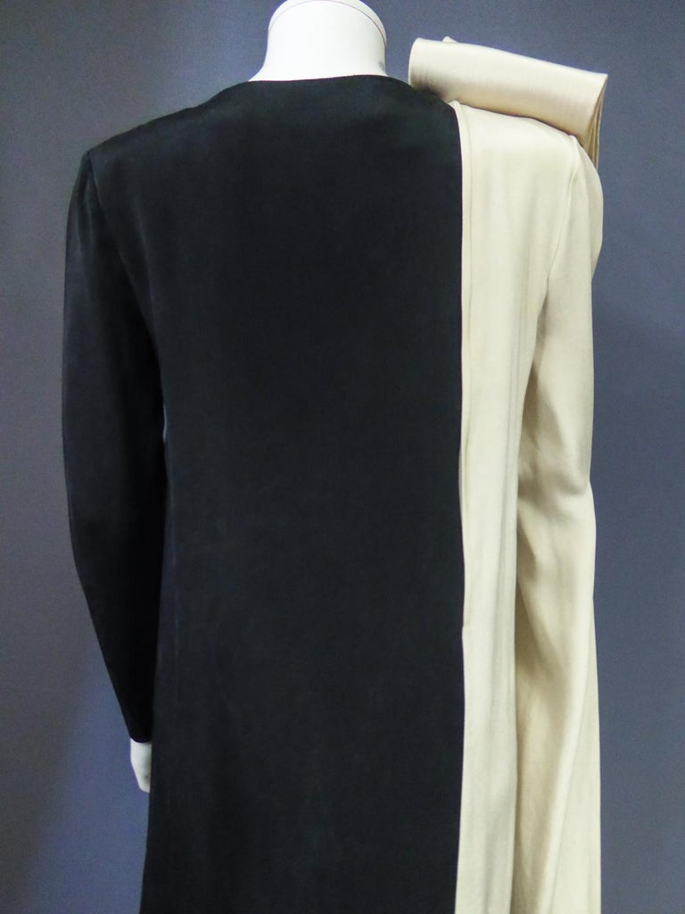 A French Pierre Cardin Couture Peplum Evening Dress in Silk Circa 1975/85 For Sale 7
