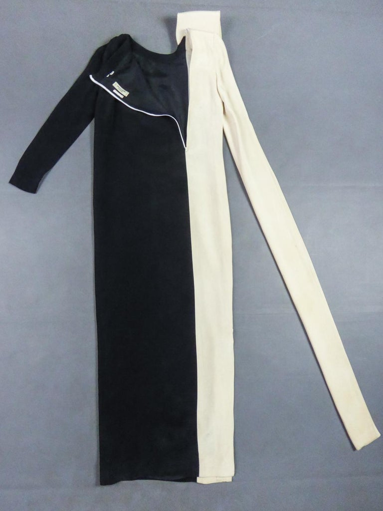 Women's A French Pierre Cardin Couture Peplum Evening Dress in Silk Circa 1975/85 For Sale