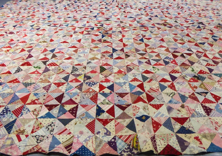 A French Provence Printed Cotton Patchwork 19th century For Sale 6