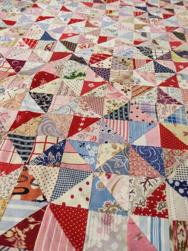 A French Provence Printed Cotton Patchwork 19th century For Sale 7