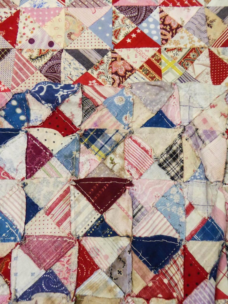 A French Provence Printed Cotton Patchwork 19th century For Sale 8