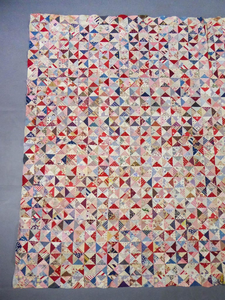 A French Provence Printed Cotton Patchwork 19th century In Good Condition For Sale In Toulon, FR