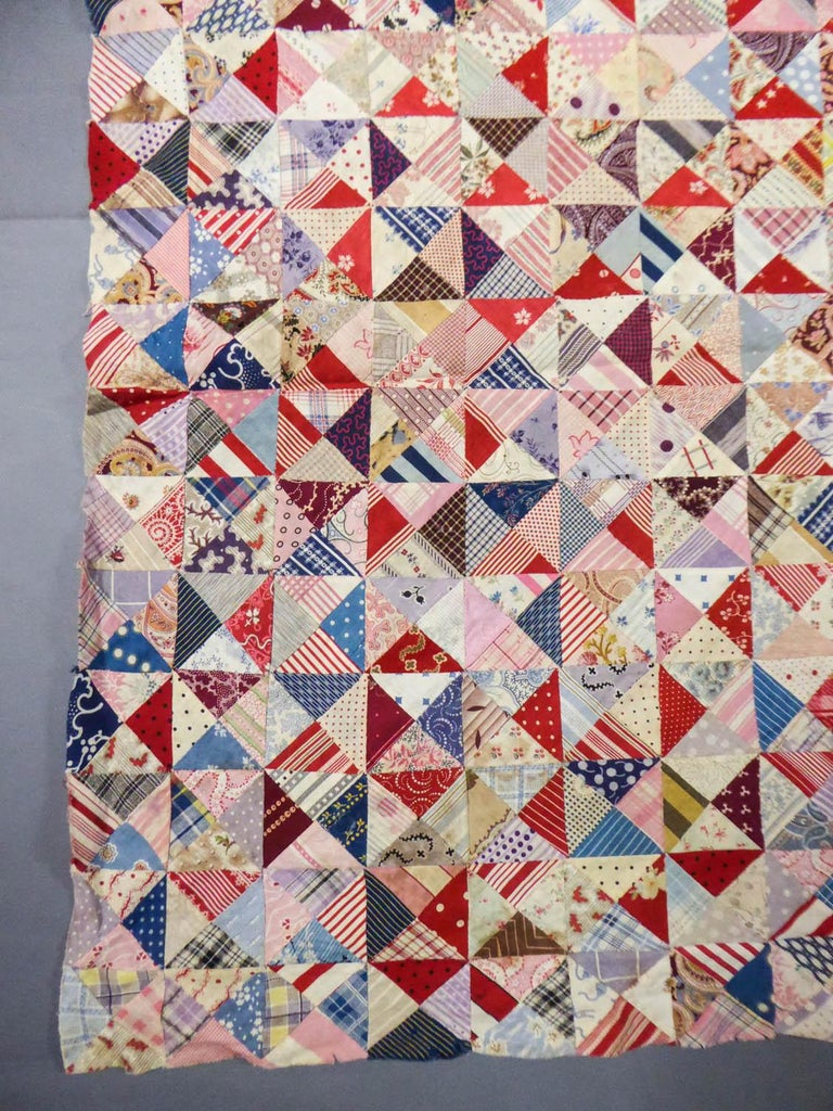 Women's or Men's A French Provence Printed Cotton Patchwork 19th century For Sale