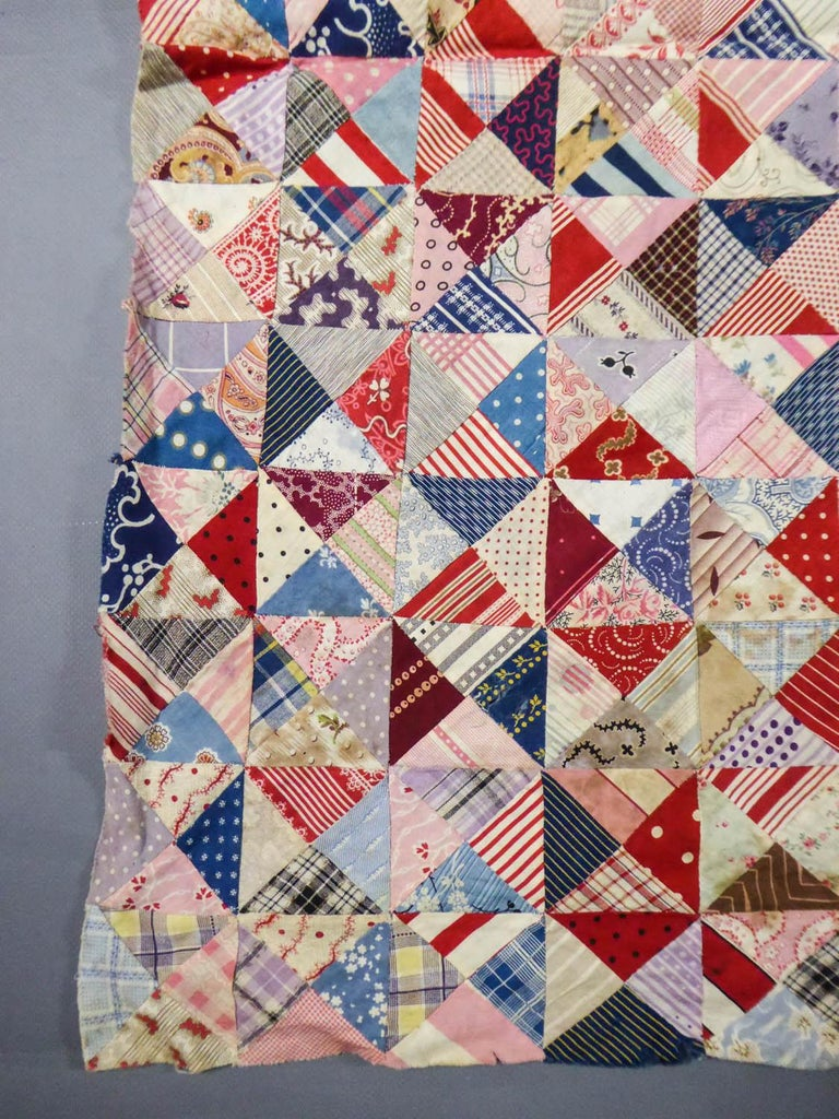 A French Provence Printed Cotton Patchwork 19th century For Sale 1